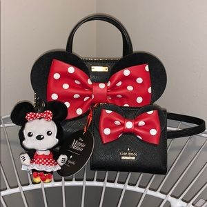 NWT kate spade Minnie Mouse Maise & Adalyn
